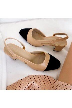 LuviShoes S3 Ten Cilt Siyah Süet Kadın Topuklu Ayakkabı 2