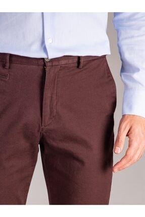 Dufy Bordo Büyük Beden Düz Sık Dokuma Erkek Pantolon - Battal 1