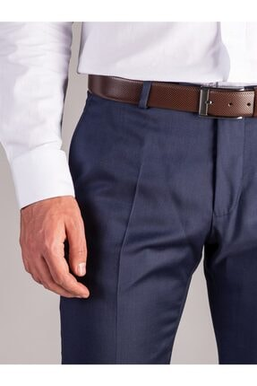Dufy A.lacivert Düz Erkek Pantolon - Regular Fıt 1