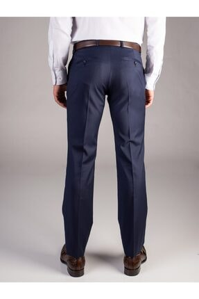 Dufy A.lacivert Düz Erkek Pantolon - Regular Fıt 2