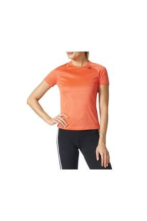 adidas Kadın Turuncu Spor T-Shirt 0
