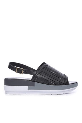 Kemal Tanca Kadın Derı Sandalet Sandalet 674 413406 Bn Sndlt 0