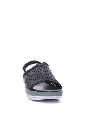 Kemal Tanca Kadın Derı Sandalet Sandalet 674 413406 Bn Sndlt 1