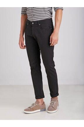 Dufy Siyah Pamuklu Likra Erkek Pantolon - Modern Fit 0