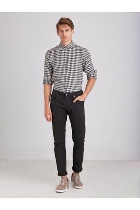 Dufy Siyah Pamuklu Likra Erkek Pantolon - Modern Fit 2