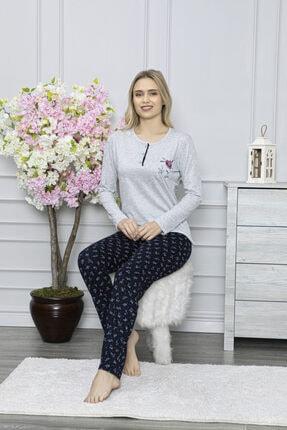 LİLA PİJAMA Uzun Kol Viskon Bayan Pijama Takımı 0