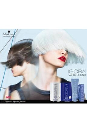 Igora Vario Blond Super Plus Beyaz Acıcı 450 gr + Igora Krem Oksidan %3 10v 1000ml 1