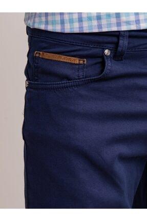 Dufy Lacivert Pamuk Likra Karışımlı Erkek Pantolon - Modern Fit 1