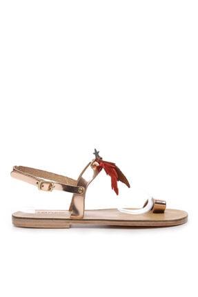 Kemal Tanca Kadın Deri Sandalet Sandalet 607 Kb35 Bn Sndlt 0