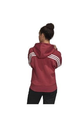 adidas W 3s Dk Hoodie Kadın Kırmızı Günlük Stil Ceket Gc6950 1
