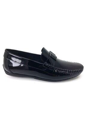 MARCOMEN 11260 Rugan Siyah Hakiki Deri Ayakkabı 1