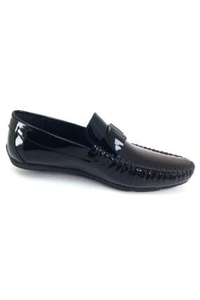 MARCOMEN 11260 Rugan Siyah Hakiki Deri Ayakkabı 2