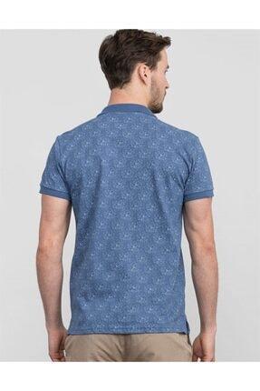 Tudors Slim Fit Polo Yaka Çiçek Desenli T-shirt 2