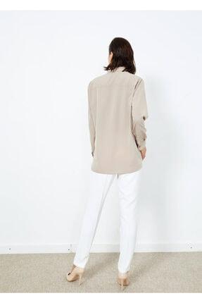 Adze Kadın Vizon Düğmeli Şık Gömlek Vızon L 1