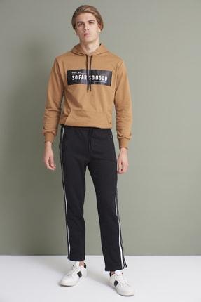 Tena Moda Erkek Siyah Yanı Üç Şeritli Eşofman Altı 4