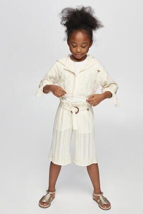 Picture of Kız Çocuk Ekru Pantolon
