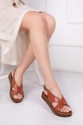Deripabuc Hakiki Deri Taba Kadın Deri Sandalet Dp-1069 0