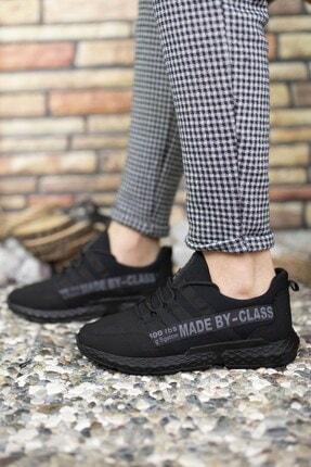 Riccon Siyah Erkek Cilt Sneaker 0012santo 4