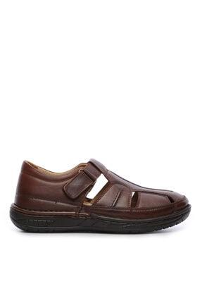 Kemal Tanca Erkek Derı Sandalet Ayakkabı 742 5 Erk Sndlt Y19 0