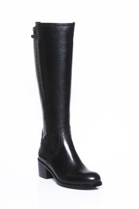 Deripabuc Hakiki Deri Siyah Kadın Deri Çizme Dp01-2064 2