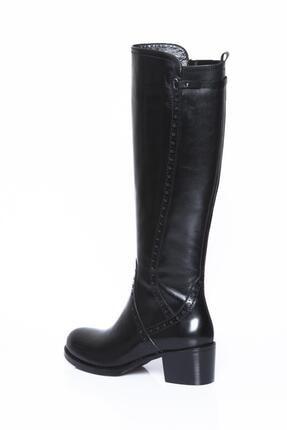 Deripabuc Hakiki Deri Siyah Kadın Deri Çizme Dp01-2064 3