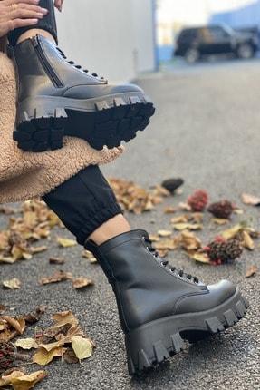 İnan Ayakkabı BAYAN SİYAH BOT&BOOTİE&POSTAL KY5000 2