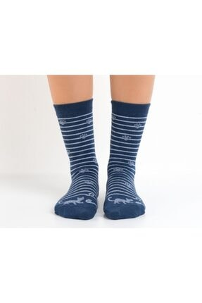 تصویر از Bayan Patili Kedili Soket Çorap