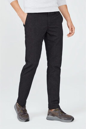 Avva Erkek Antrasit Yandan Cepli Flanel Slim Fit Pantolon A02y3057 2