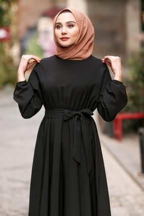 benguen 7069 Tesettür Elbise - Siyah 1