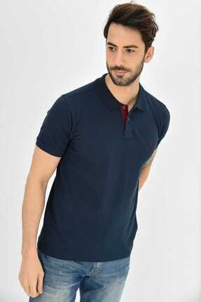 Dynamo Erkek Lacivert Polo Yaka Likralı T-shirt 0