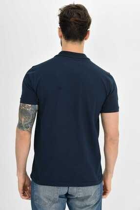 Dynamo Erkek Lacivert Polo Yaka Likralı T-shirt 1