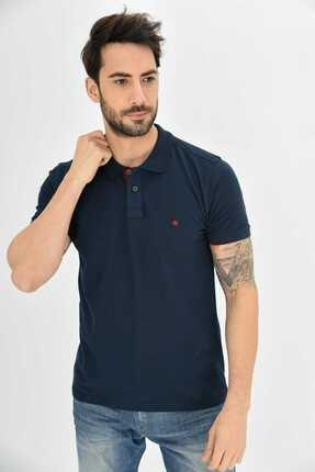 Dynamo Erkek Lacivert Polo Yaka Likralı T-shirt 2