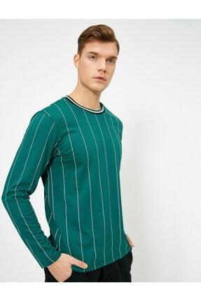Koton Erkek Çizgili T-shirt 0