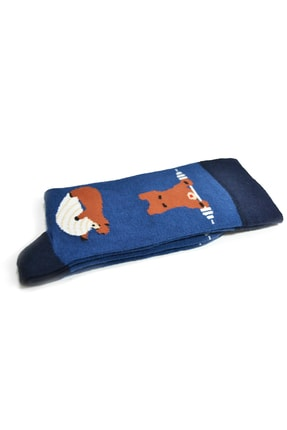 iconsocks Unisex Soket Plates Yapan Ayı Desenli Tasarım Çorap 1