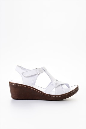 Bambi Beyaz Kadın Sandalet L0809708403 1