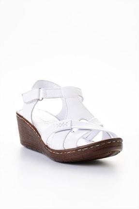 Bambi Beyaz Kadın Sandalet L0809708403 2
