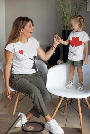 تصویر از Anne & Kız Baskılı Kombin Tişörtler