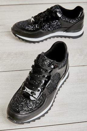 Bambi Siyah Kadın Sneaker L06030561 0