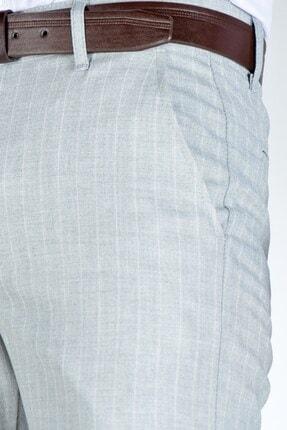 Terapi Men Erkek Çizgi Desenli Slim Fit Keten Pantolon 20y-2200268 Gri 4