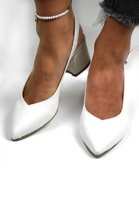 Tenero Shoes Tenero Ayakkabı Beyaz Topuklu Ayakkabı 0