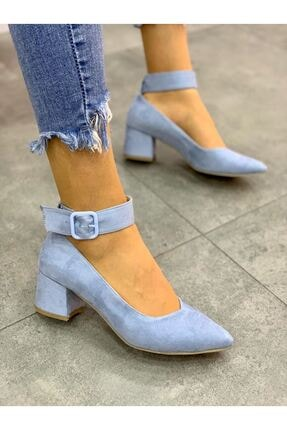 Lal Shoes & Bags Bilekten Kemer Detaylı Kadın Topuklu Ayakkabı-s. Bebe Mavi 0