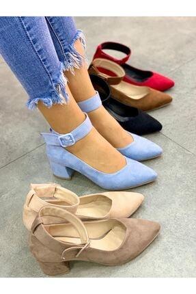 Lal Shoes & Bags Bilekten Kemer Detaylı Kadın Topuklu Ayakkabı-s. Bebe Mavi 1