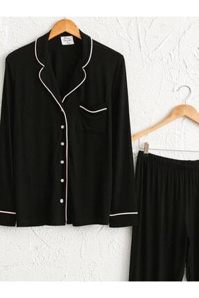 LC Waikiki Kadın Siyah  Pijama Takım 2