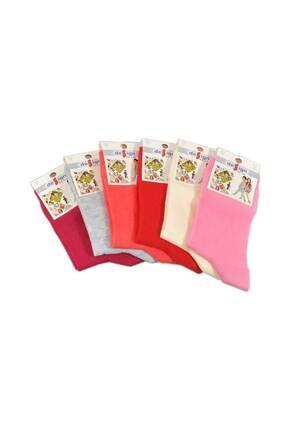 Design Socks Çocuk Asorti Soket Çorabı (6 Çift) 1-11 Yaş - Desen Çorap 0