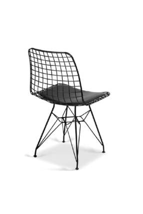 Evdemo Dekor Tel Sandalye Siyah 3