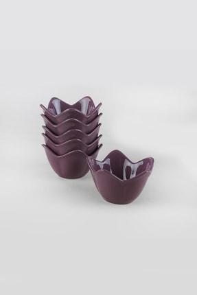 Keramika Mor Zambak Çerezlik / Sosluk 12 Cm 6 Adet 1