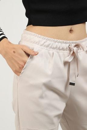 MOGS Paçası Lastikli Parça Detaylı Deri Pantolon 1