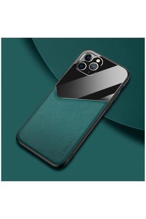 Dara Aksesuar Apple Iphone 11 Pro Max Kılıf Zebana New Fashion Deri Kılıf Yeşil 0