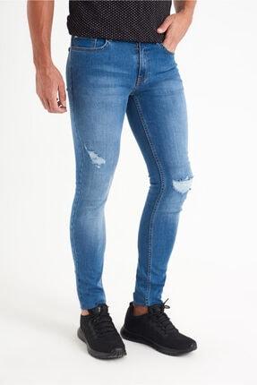 Avva Erkek Mavi Slim Fit Jean Pantolon A01y3570 1