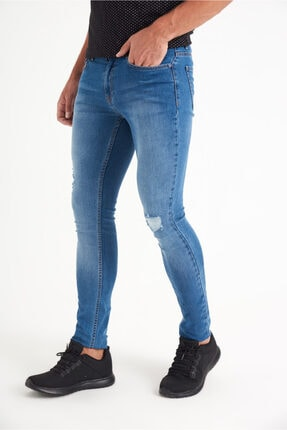 Avva Erkek Mavi Slim Fit Jean Pantolon A01y3570 2